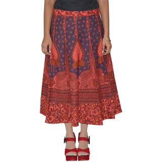 Sunshine Printed Women's Multicolor Wrap Around Skirts-147