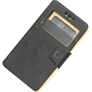 Jojo Flip Cover for Samsung I9105P Galaxy S II Plus with NFC (Black)
