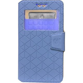 Jojo Flip Cover for Microsoft Lumia 638 (Dark Blue)