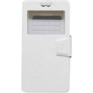 Jojo Flip Cover for Lava Iris X1 Atom (White)