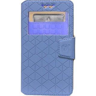 Jojo Flip Cover for Karbonn A6 (Dark Blue)
