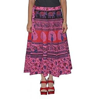 Sunshine Printed Women's Multicolor Wrap Around Skirts-153