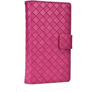 Jojo Wallet Case Cover for Lenovo A7000 (Hot Pink)