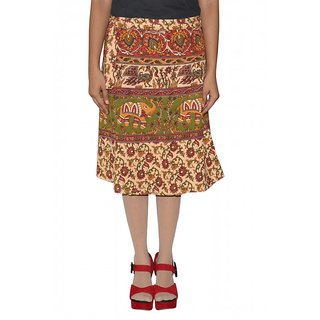 Gurukripa Shopee Printed Women's Wrap Around Skirts  GSKWCK-A0288