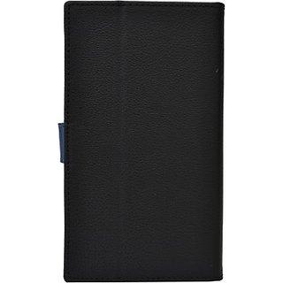 Jojo Wallet Case Cover for Oppo Find 7 (Black, Dark Blue)