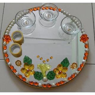 Zest Blessed -DivyaKala Pooja Thali-Plate, Kumkum box,