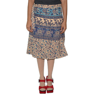 Gurukripa Shopee Printed Women's Wrap Around Skirts  GSKWCK-A0289
