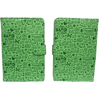 Jojo Flip Cover for BsnlChampion Wtab 705 - 2G Talk (Green)
