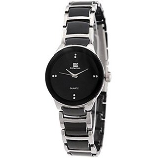 IIK Collection Round Analogue Black Dial WOMENs Watch