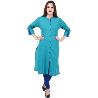 Beautiful Cotton Solid Blue Kurti From The House Of Raaz