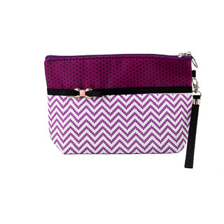 Styler Girls  Women Purple White Pouch STBGCBPP35