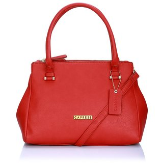 Caprese Diane Satchel Medium Deep Red