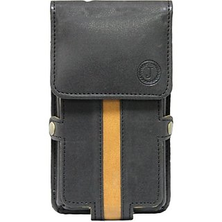 Jojo Pouch for Lenovo A7000 (Black Tan)