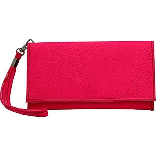 Jojo Pouch for Videocon A48 (Bright Pink)