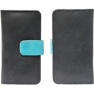 Jojo Pouch for BLU Studio 5.3 II (Black, Light Blue)