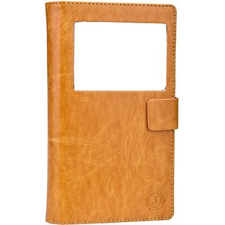 Jojo Pouch for Micromax Canvas Duet AE90 (Light Brown)