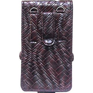Jojo Pouch for Karbonn K600 (Wine Red)