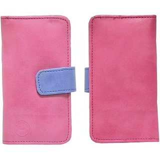 Jojo Pouch for HTC One E9 Plus (Pink, Dark Blue)