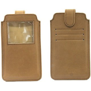 Jo Jo Pouch for Micromax Canvas Power (Tan)