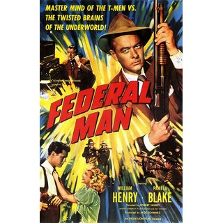 Reproduction Of A Poster Presenting - Federal Man - A3 Poster Prints Online Buy