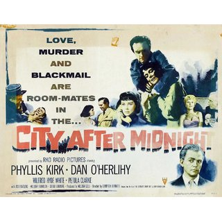 Reproduction Of A Poster Presenting - City After Midnight - A3 Poster Prints Online Buy
