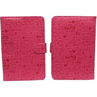 Jojo Flip Cover for Blu Touch Book 7.0 Plus (Pink)