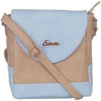 ESBEDA Light Blue Color Solid Slingbag For Womens 1456