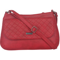 ESBEDA Red Color Quilted Slingbag For Womens 1465
