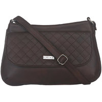 ESBEDA Brown Color Quilted Slingbag For Womens 1468