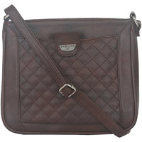 ESBEDA Brown Color Quilted Slingbag For Womens 1474