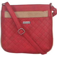 ESBEDA Red Color Quilted Slingbag For Womens 1476