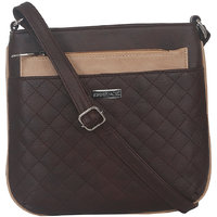 ESBEDA Brown Color Quilted Slingbag For Womens 1478