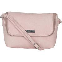 ESBEDA Light Pink Color Solid Slingbag For Womens 1481