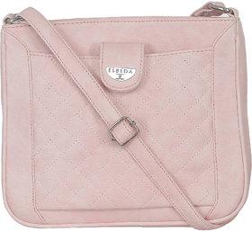 ESBEDA Light Pink Color Quilted Slingbag For Womens 147