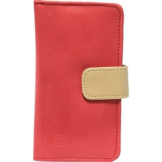 Jojo Flip Cover for Swipe Konnect Me (Red, Beige)