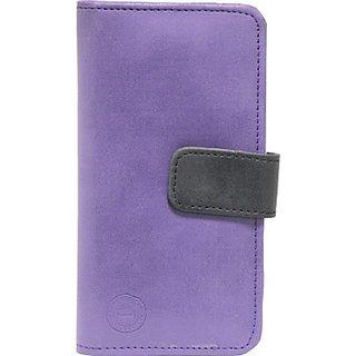 Jojo Flip Cover for Celkon Q500 Millennium Ultra         (Purple, Black)