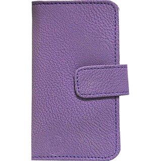 Jojo Flip Cover for Karbonn Titanium S19         (Purple)