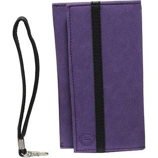 Jojo Pouch for Micromax A90s         (Purple, Black)
