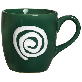 Buy Tea Cup Ceramic/Stoneware in Green White Doodle (Set of 1) Handmade By Caffeine Online - Get 50% Off  sc 1 st  Shopclues & Buy Tea Cup Ceramic/Stoneware in Green White Doodle (Set of 1 ...