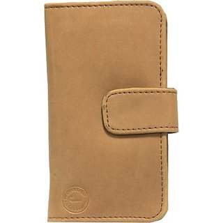 Jojo Flip Cover for Micromax Canvas Fun A76         (Tan)