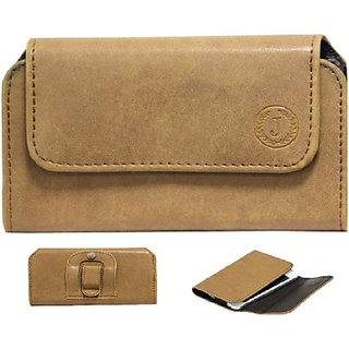 Jojo Pouch for Micromax X78         (Tan)