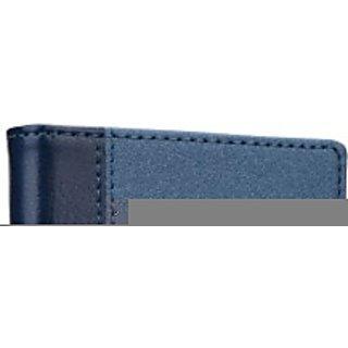 Jojo Wallet Case Cover for Lava Iris N400         (Dark Blue)