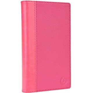 Jojo Wallet Case Cover for Lenovo S650         (Exotic Pink)