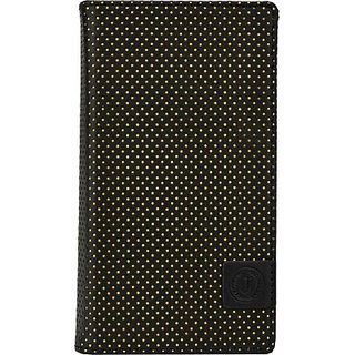 Jojo Wallet Case Cover for HTC One M8 Dual SIM         (Black, Yellow)