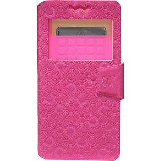 Jojo Wallet Case Cover for Spice Smart Flo Ivory 2         (Exotic Pink)