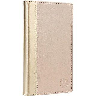 Jojo Wallet Case Cover for Spice Stellar 451 3G         (Golden)