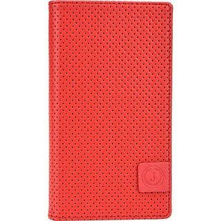 Jojo Wallet Case Cover for Acer Liquid E700         (Red, Black)