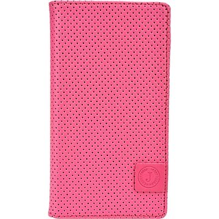 Jojo Wallet Case Cover for XOLO Opus 3         (Pink, Blue)