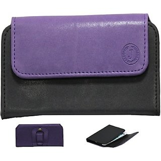 Jojo Pouch for Celkon C227         (Purple Black)