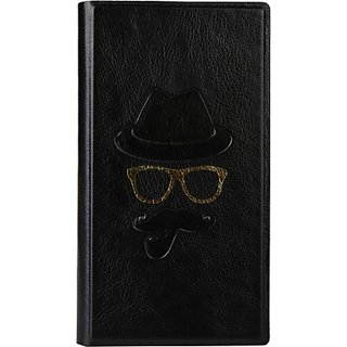 Jojo Wallet Case Cover for Sony Xperia Z1s C6916         (Black)